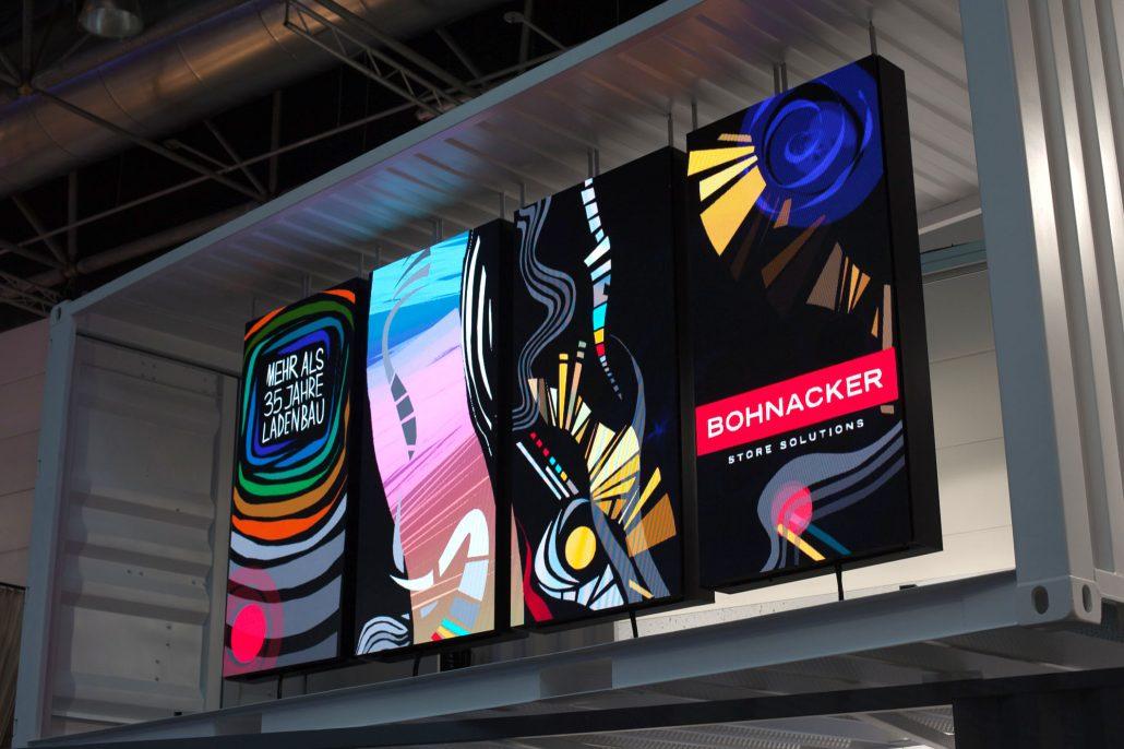Tagtool artwork by Maki & iink at the Bohnacker booth at Euroshop fair 2017